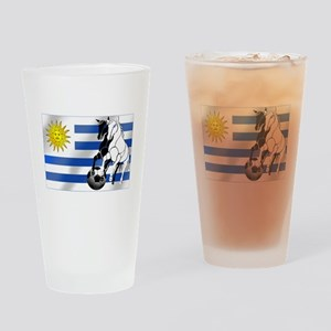 Uruguay Soccer Flag Drinking Glass